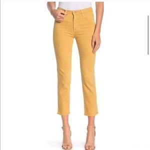 AG | The Isabelle Mustard High Rise Straight Crop